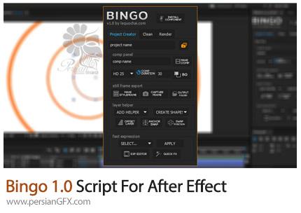 دانلود اسکریپت Bingo 1.0 ابزار های موشن گرافیک برای افتر افکت - Bingo 1.0 Script For After Effect