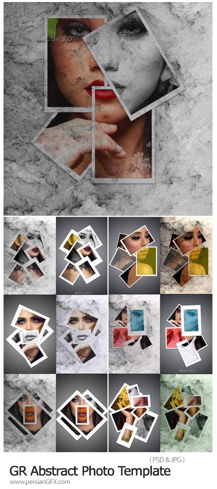 دانلود فریم های عکس آماده از گرافیک ریور - GraphicRiver Abstract Photo Template