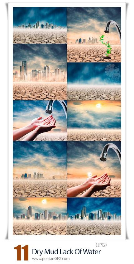 دانلود 11 عکس با کیفیت زمین خشک و صرفه جویی در مصرف اب - Dry Mud Lack Of Water