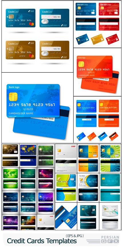 دانلود وکتور کارت اعتباری یا کارت بانکی - Credit Cards Vector Templates