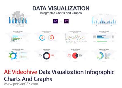 دانلود نمودارهای اینفوگرافی و دیتا ویژوالیزیشن برای افترافکت و پریمیر - Videohive Data Visualization Infographic Charts And Graphs