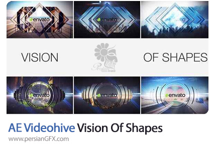دانلود پروژه افترافکت اوپنر با اشکال هندسی به همراه آموزش ویدئویی - VideoHive Vision Of Shapes