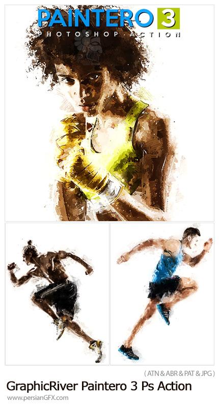 دانلود اکشن فتوشاپ تبدیل تصاویر به نقاشی رنگ روغن به همراه آموزش ویدئویی - GraphicRiver Paintero 3 Photoshop Action