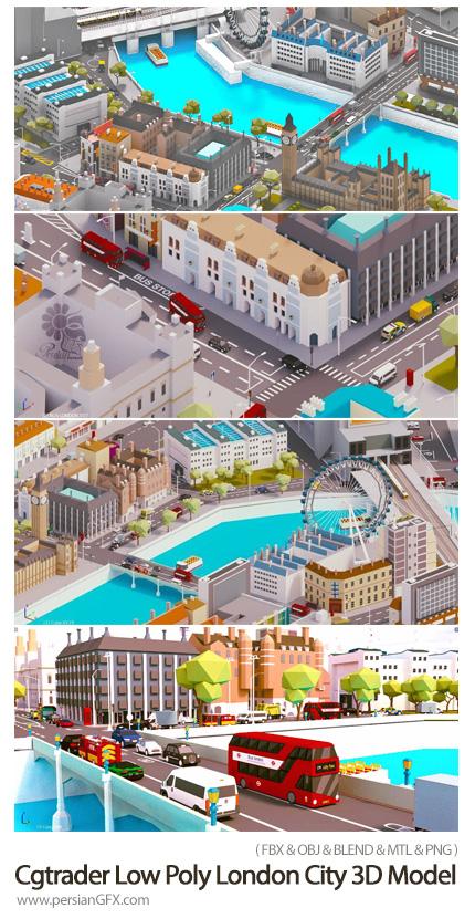 دانلود طرح های پولیگانی سه بعدی شهر لندن برای ساخت بازی و انیمیشن - Cgtrader Low Poly London City-Poly 3D Model