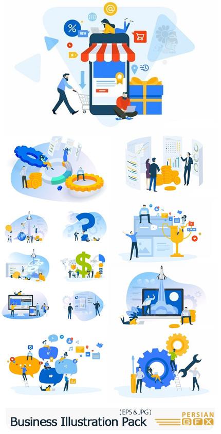 دانلود وکتور طرح های تجاری متنوع - Business Illustration Pack