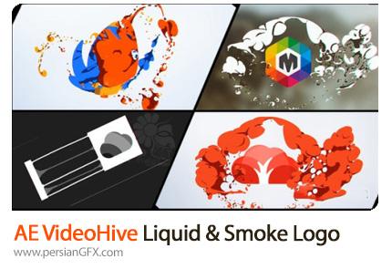 دانلود پروژه افترافکت نمایش لوگو با افکت دود و مایعات به همراه آموزش ویدئویی - VideoHive Liquid And Smoke Hand Drawn Logo Reveals