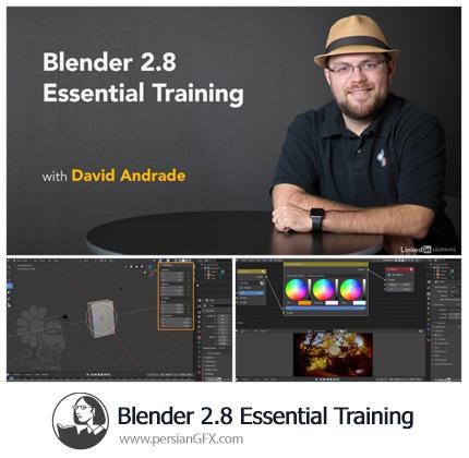 آموزش نکات ضروری نرم افزار بلندر 2.8 - Lynda Blender 2.8 Essential Training