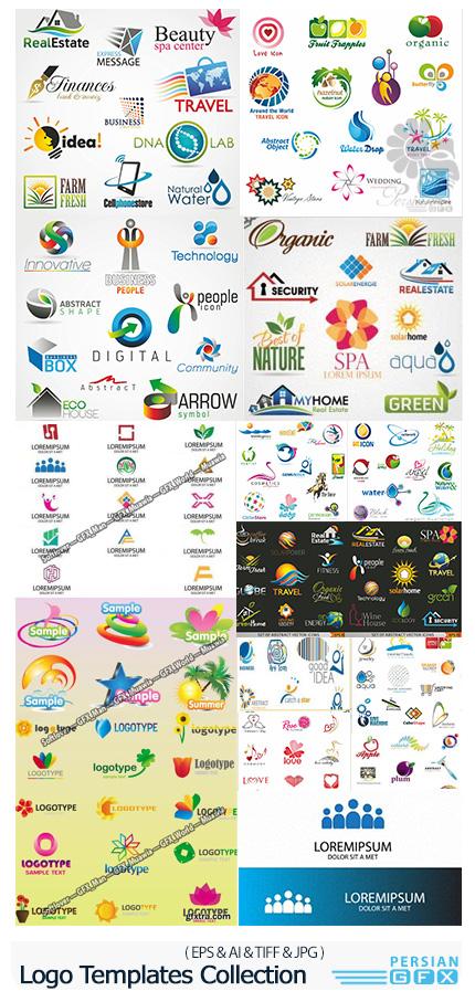 دانلود 263 وکتور آرم و لوگوی متنوع - 263 Logo Templates Collection In Vector