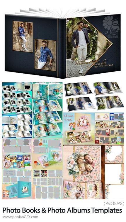 دانلود مجموعه موکاپ کتاب و آلبوم عکس متنوع - Awesome Photo Books And Photo Albums PSD Templates Collection