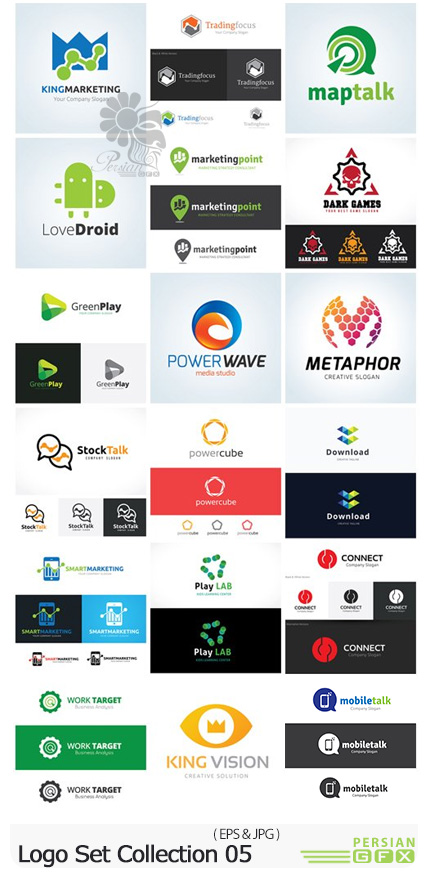 دانلود وکتور آرم و لوگوهای متنوع - Logo Set Collection 05