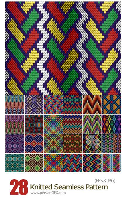 دانلود پترن بافت لباس با طرح های هندسی - Knitted Seamless Pattern