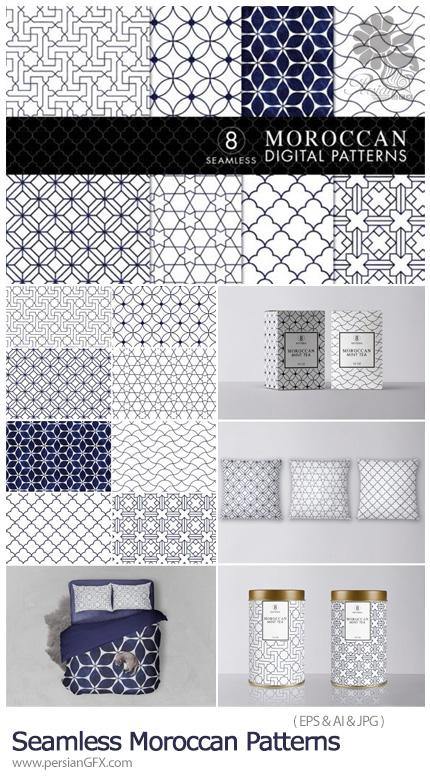دانلود پترن وکتور با طرح های اسلامی و مراکشی - Seamless Moroccan Patterns