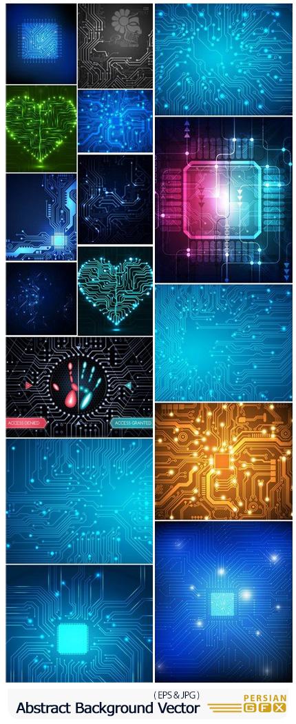 دانلود وکتور بک گراند های انتزاعی متنوع - Abstract Background Collection
