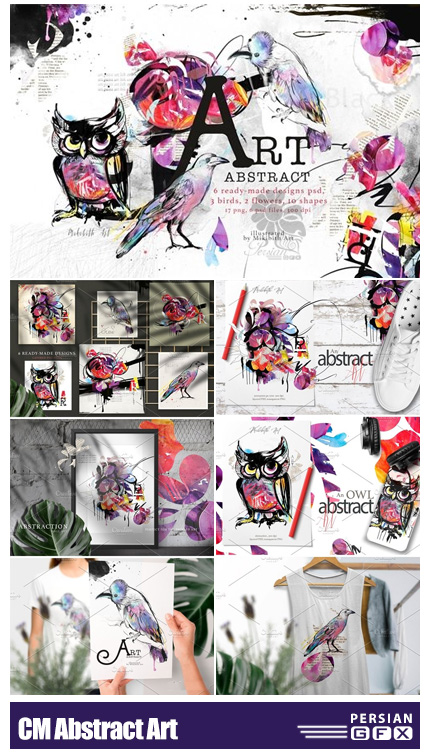 دانلود طرح های هنری انتزاعی برای چاپ بر روی اشیاء مختلف - CM Abstract Art