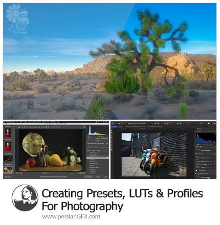 آموزش ایجاد پریست، LUT و پروفایل برای عکاسی در فتوشاپ و لایتروم - Lynda Creating Presets, LUTs And Profiles For Photography