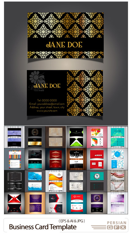 دانلود 28 قالب وکتور کارت ویزیت با طرح های متنوع - Business Card Template