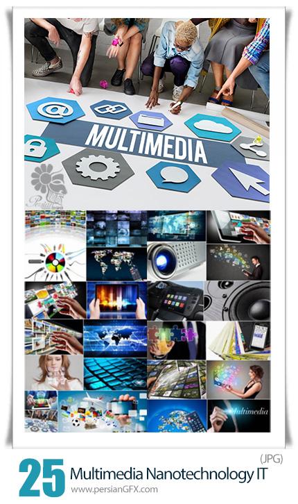 دانلود مجموعه عکس با کیفیت تکنولوژی پیشرفته آی تی، ارتباطات، شبکه، تبلت، موبایل و ... - Multimedia Telemetry Telecommunications Nanotechnology IT