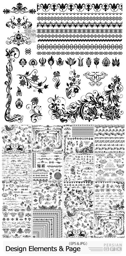 دانلود وکتور کادر و حاشیه های تزئینی خوشنویسی - Design Elements And Page