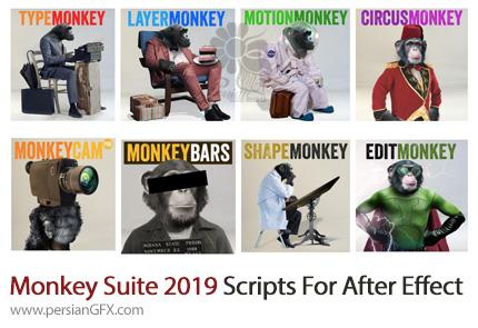 دانلود مجموعه اسکریپت های Monkey Suite 2019 برای افتر افکت - Monkey Suite 2019 Scripts For After Effect