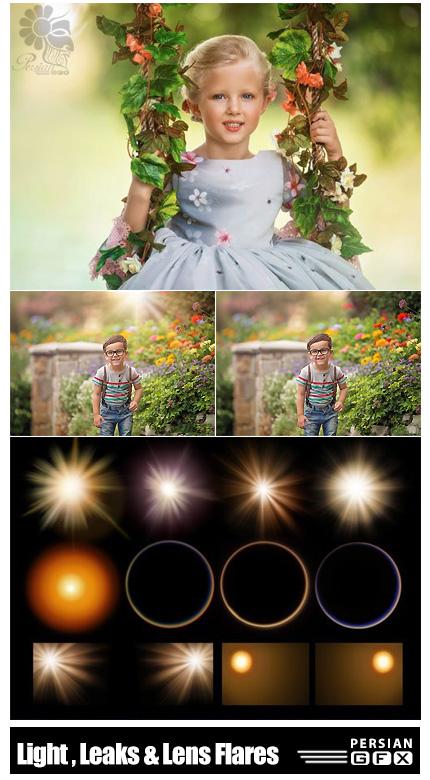 دانلود تصاویر پوششی و اکشن فتوشاپ افکت های نورانی به همراه آموزش ویدئویی - GreatertThanGatsby Photoshop Light Overlays, Leaks And Lens Flares