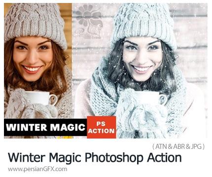 دانلود اکشن فتوشاپ ایجاد افکت زمستانی بر روی تصاویر - Winter Magic Photoshop Action