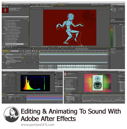 دانلود آموزش ویرایش و انیمیشن سازی برای صدا در ادوبی افترافکت - Lynda Editing And Animating To Sound With Adobe After Effects