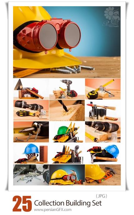 دانلود 25 عکس با کیفیت ابزار آلات مهندسی ساختمان - Collection Building Set For The Master Of All Trades