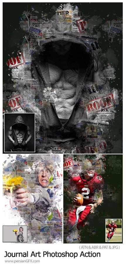 دانلود اکشن فتوشاپ تبدیل تصاویر به مجله هنری به همراه آموزش ویدئویی - Journal Art Photoshop Action