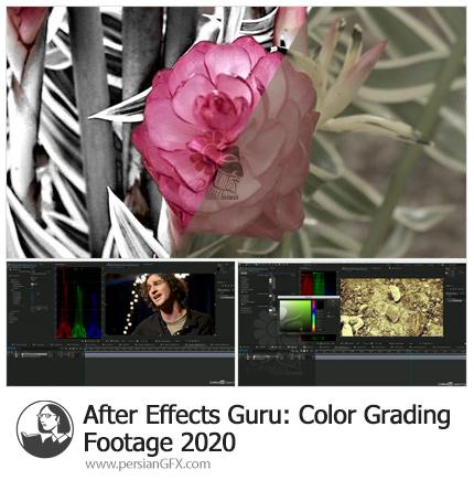 دانلود آموزش تکنیک های اصلاح رنگ فیلم در افترافکت - After Effects Guru: Color Grading Footage 2020
