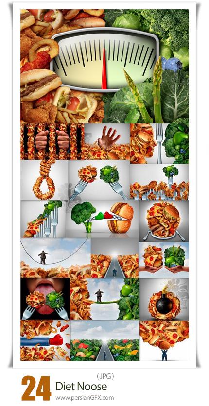 دانلود 24 عکس با کیفیت غذاهای رژیمی و فست فود - Diet Noose