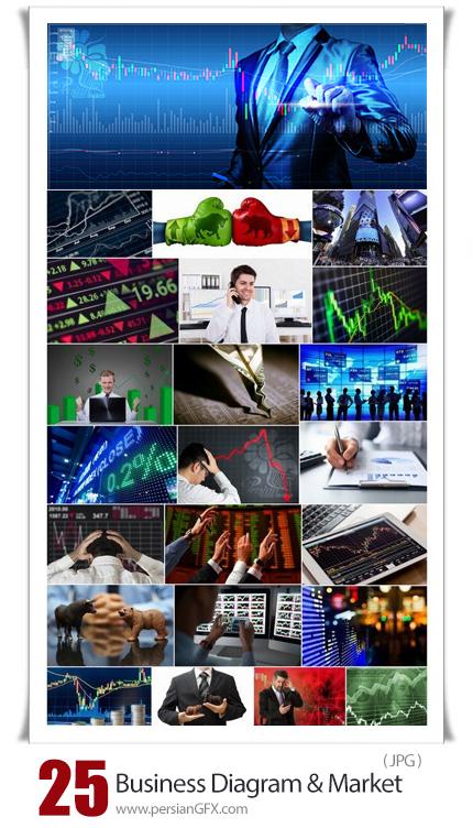 دانلود تصاویر بازار سرمایه، دیاگرام اقتصاد و ترید کردن و بورس - Business Diagram And Success Market