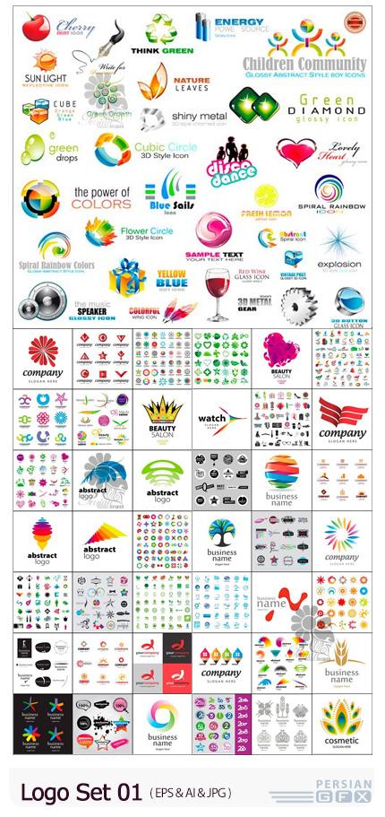 دانلود 50 وکتور آرم و لوگو با طرح های متنوع - Logo Set 01