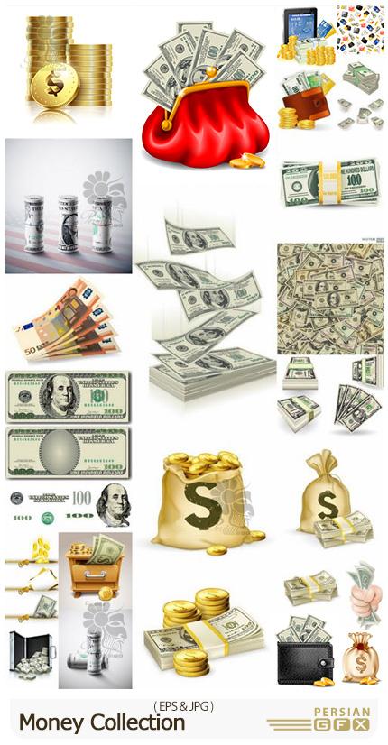 دانلود وکتور پول، دلار، اسکناس، سکه و ... - Money Collection