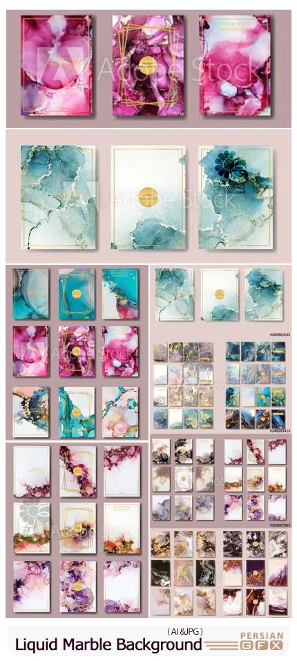 دانلود بک گراند سنگ مرمر برای طراحی کارت ویزیت، فلایر، پوستر و بروشور - Liquid Marble Gold Background