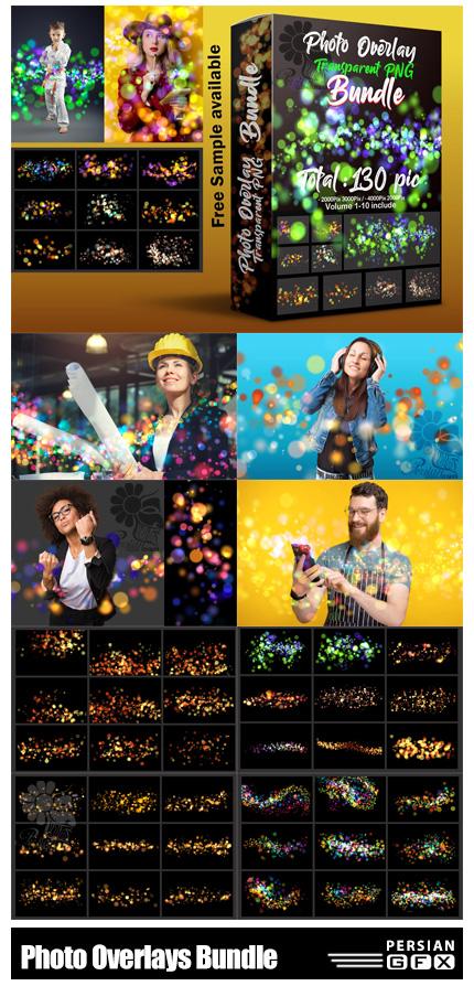 دانلود مجموعه تصاویر پوششی بوکه های رنگی درخشان - Mega Bundle Photo Overlays