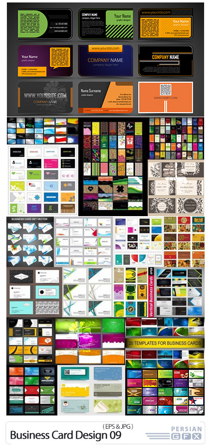دانلود 25 کارت ویزیت با طرح های گرافیکی متنوع - Business Card Design 09