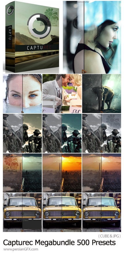 دانلود بیش از 500 پریست رنگی برای ویرایش فیلم و عکس - Capturec Megabundle 500 Presets