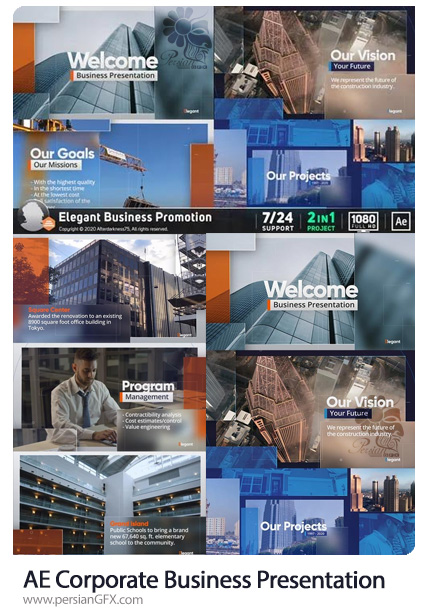 دانلود پروژه افترافکت پرزنتیشن های تجاری - Corporate Business Presentation