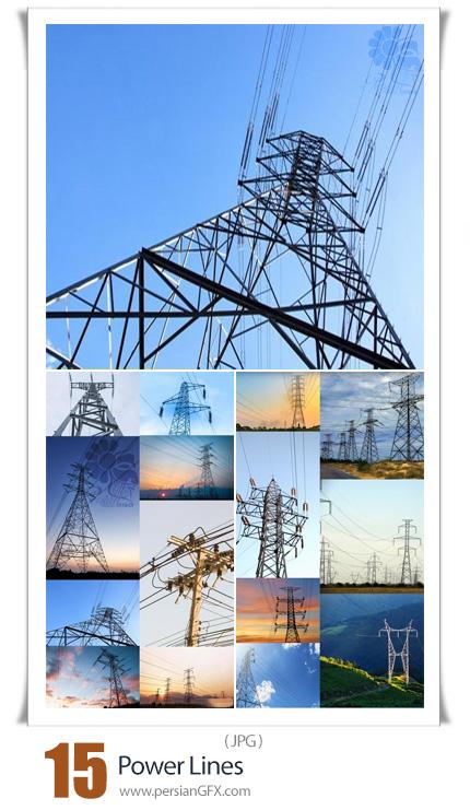 دانلود 15 عکس با کیفیت خطوط انتقال برق شامل دکل برق و تیر برق - Power Lines