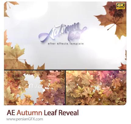 دانلود پروژه افترافکت صحنه آماده نمایش برگ های پاییزی - Autumn Leaf Reveal