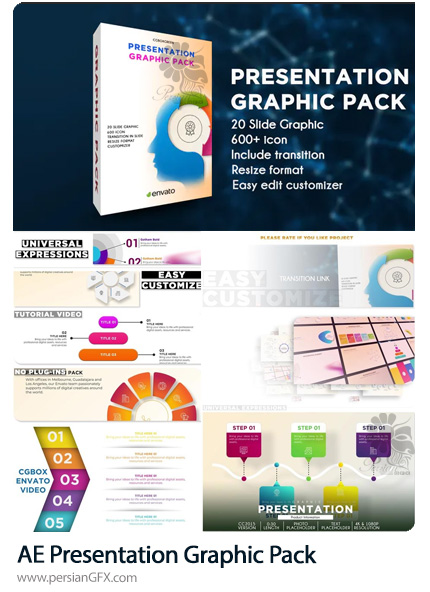 دانلود پک پرزنتیشن های گرافیکی در افترافکت به همراه آموزش ویدئویی - Presentation Graphic Pack