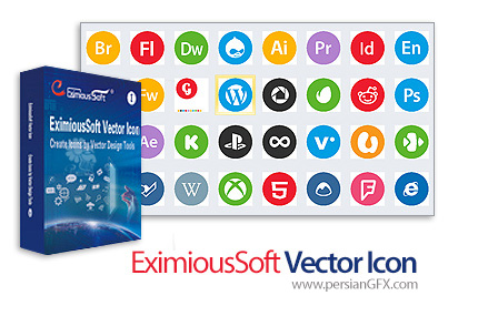 دانلود نرم افزار طراحی و ساخت آیکون - EximiousSoft Vector Icon v3.68