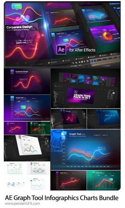 دانلود پروژه افترافکت نمودار و چارت های اینفوگرافیکی به همراه آموزش ویدئویی - Graph Tool | Infographics Сharts Bundle
