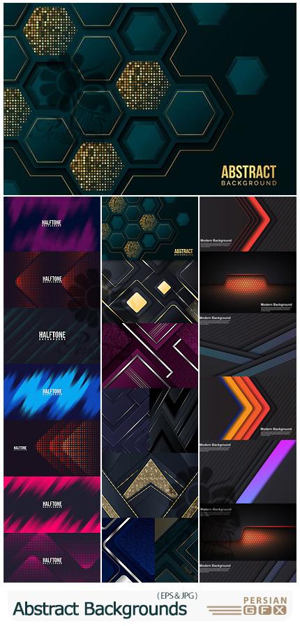 دانلود مجموعه بک گراند با طرح های انتزاعی رنگارنگ - Abstract Background Elements