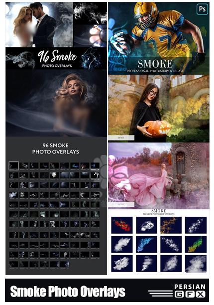دانلود مجموعه تصاویر پوششی دود، بخار و مه رنگی - Smoke Photo Overlays