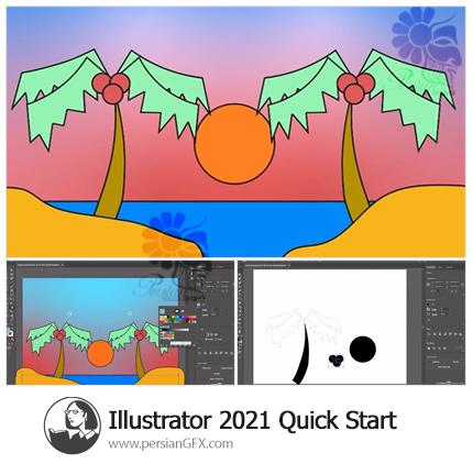 دانلود آموزش شروع سریع ادوبی ایلوستریتور سی سی 2021 - Illustrator 2021 Quick Start
