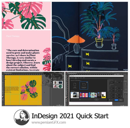 دانلود آموزش شروع سریع ادوبی ایندیزاین سی سی 2021 - InDesign 2021 Quick Start