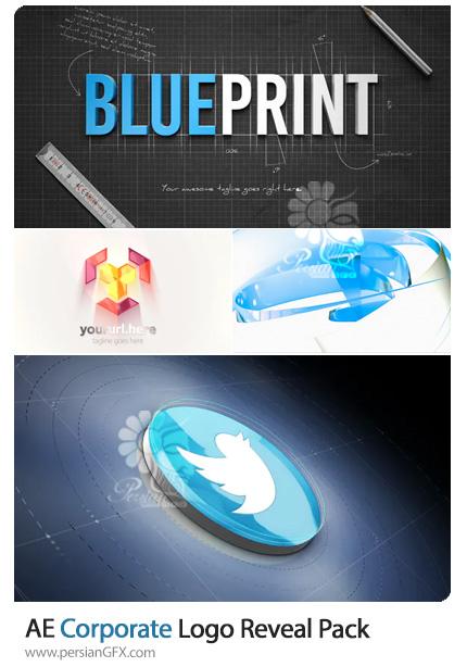 دانلود 4 پروژه افترافکت نمایش لوگو با افکت های تجاری - Corporate Logo Reveal Pack