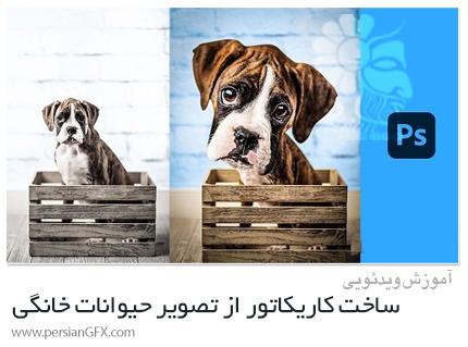 دانلود آموزش ساخت کاریکاتور از تصویر حیوانات خانگی در فتوشاپ - Create Your Pet Caricature
