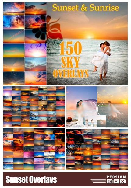 دانلود 150 تصویر پوششی آسمان ابری و غروب آفتاب به همراه آموزش ویدئویی - Sunset